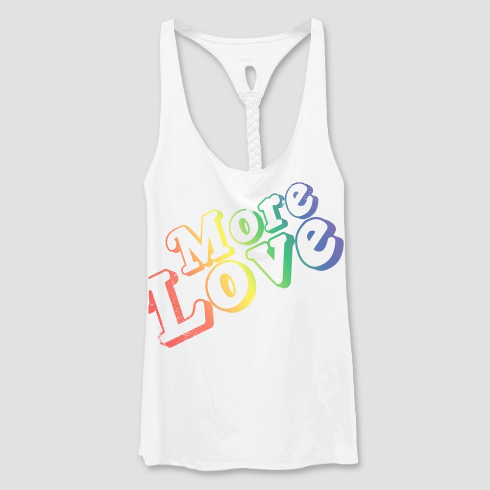 Pride Adult Big & Tall More Love Tank Top - White 4X, Womens