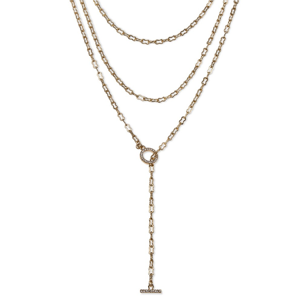 Sugarfix by BaubleBar Layered Necklace with Charm - Gold, Womens