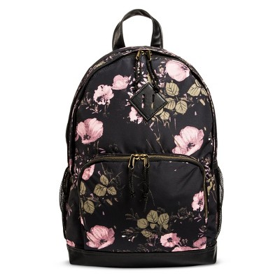 Women's Floral Satin Backpack Handbag - Mossimo Supply Co.™ Black ...