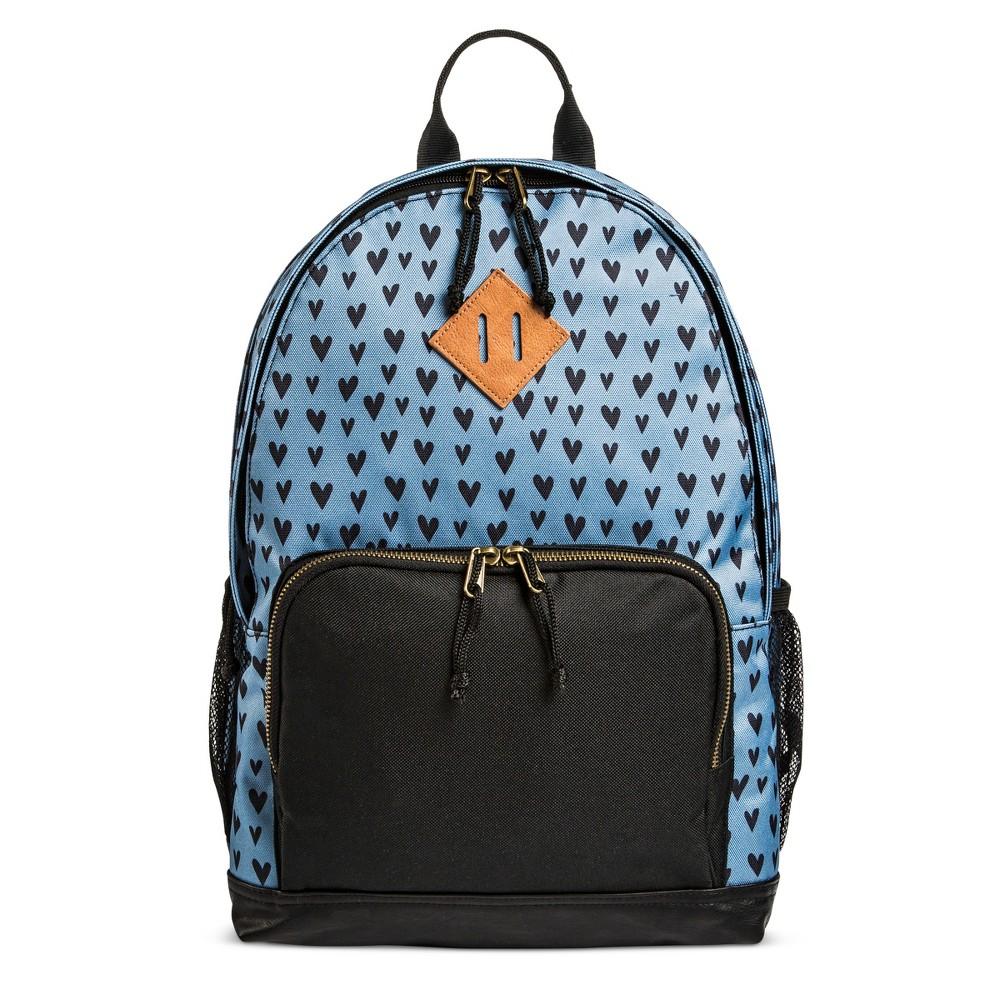 Womens Heart Print Nylon Backpack Handbag - Mossimo Supply Co. Blue