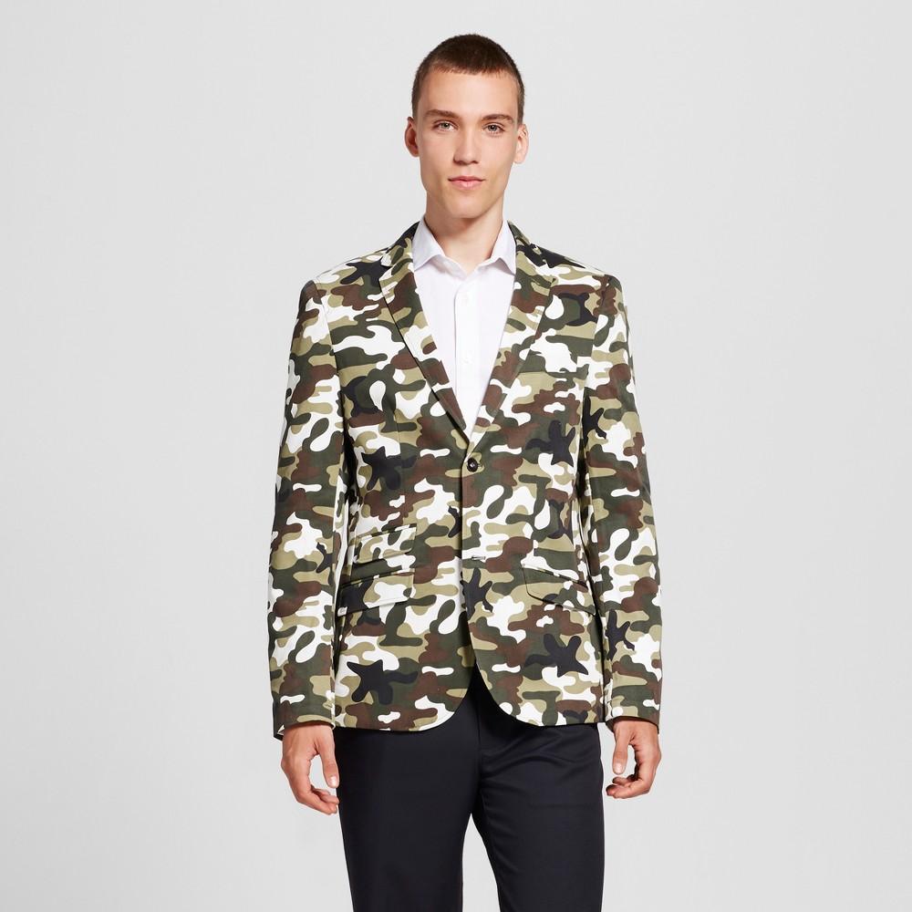 Wd·ny Black - Mens Camo Green Blazer - Camo S