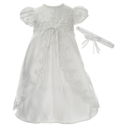 Baby Girls' Small World Christening Dress & Headband Set - White ...