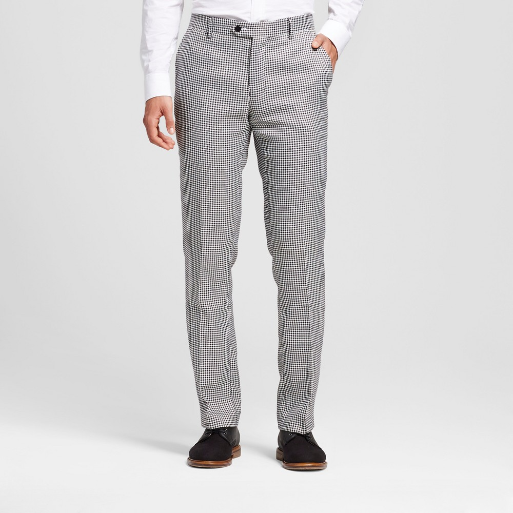 Wd·ny Black - Mens Micro Houndstooth Pants - Oxford 38x32