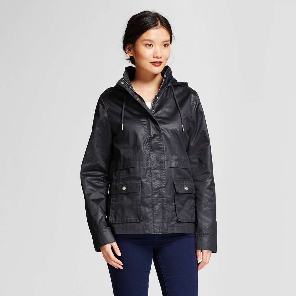 Womens Waxed Field Jacket - A New Day Dark Navy S