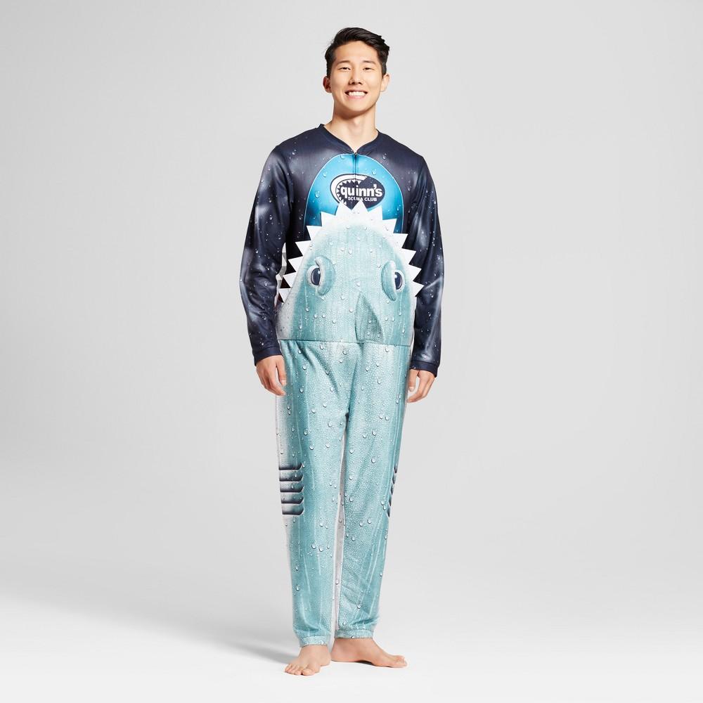 Mens Shark Union Suit - Black S