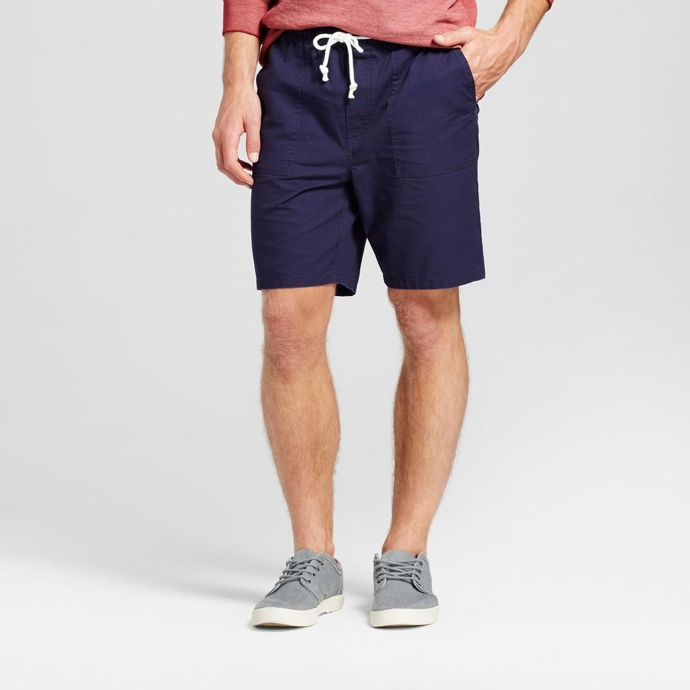 Mens Elastic Waist Jogger Shorts - Merona Navy (Blue) M