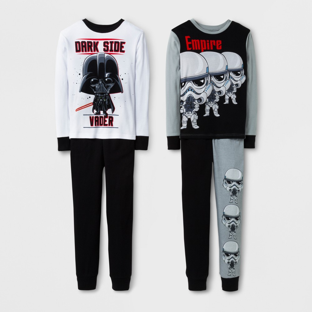 Boys Star Wars Stormtrooper Pajama Set - Black 10