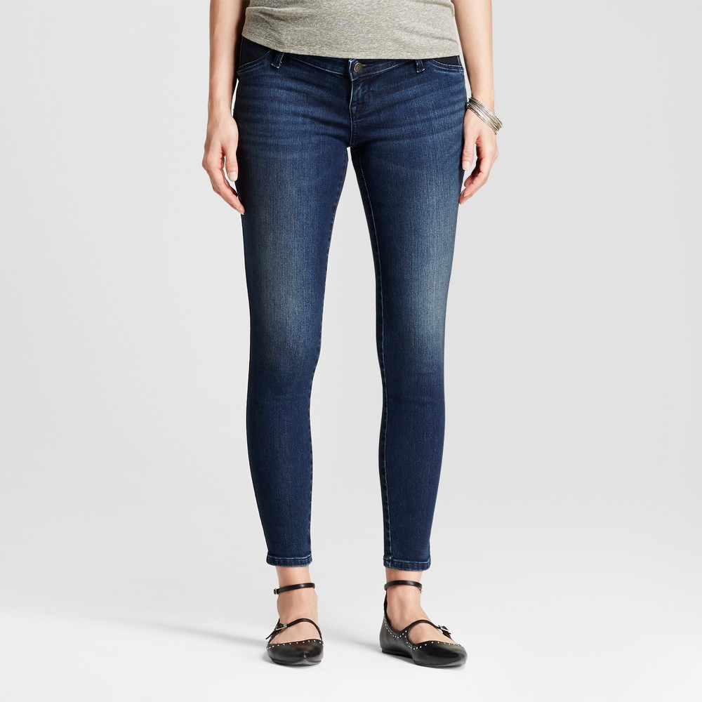 Maternity Inset Panel Jeggings - Isabel Maternity by Ingrid & Isabel Dark Wash 2, Womens, Blue
