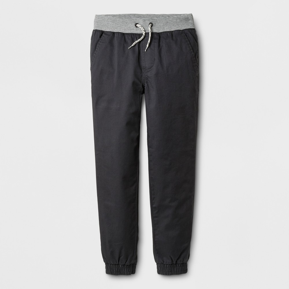 Boys Core Stretch Jogger Pants - Cat & Jack Charcoal (Grey) 10 Husky