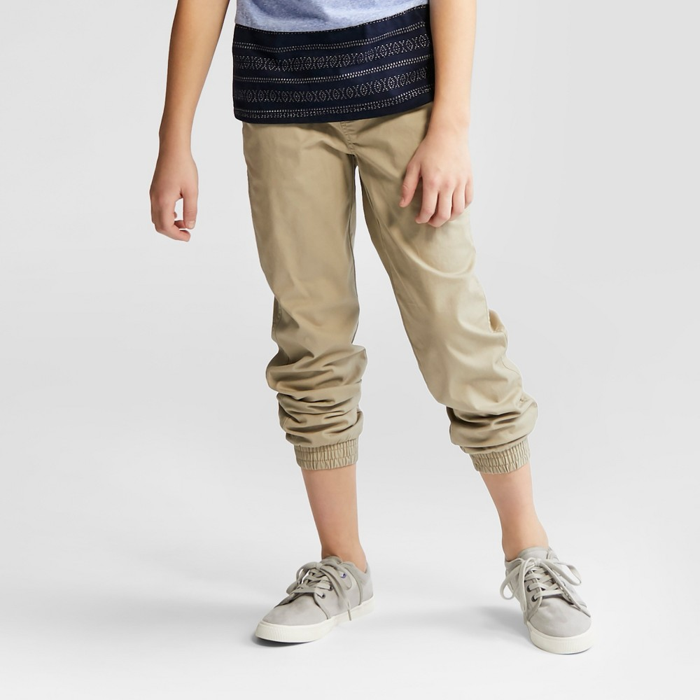 Boys Core Stretch Jogger Pants - Cat & Jack Vintage Khaki 10 Husky