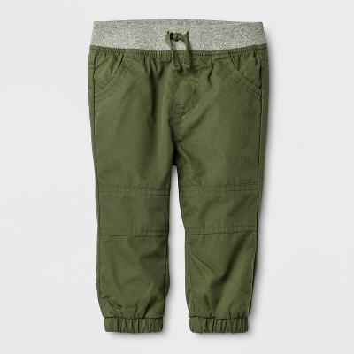 Baby Boys' Marled Jogger Pants Cat & Jack™ - Green 3-6 M
