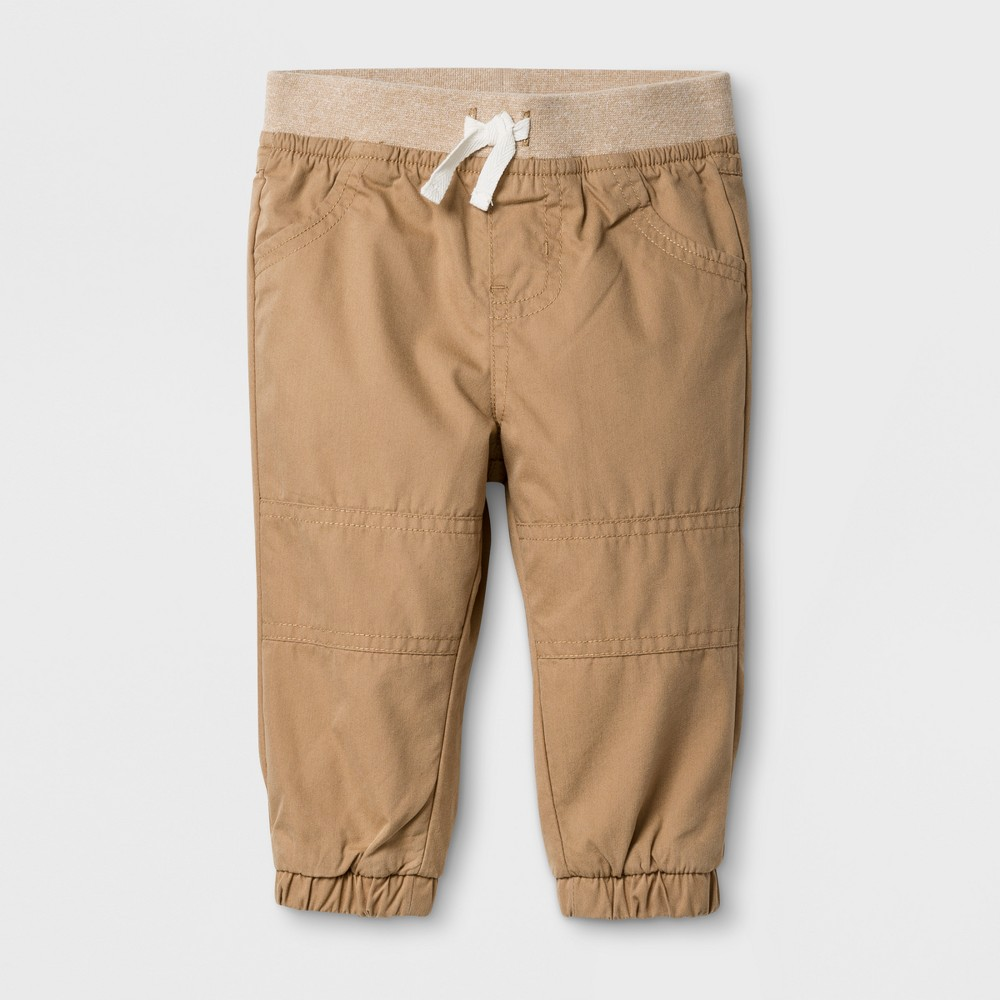 Baby Boys Marled Jogger Pants Cat & Jack - Tan 12 M, Brown