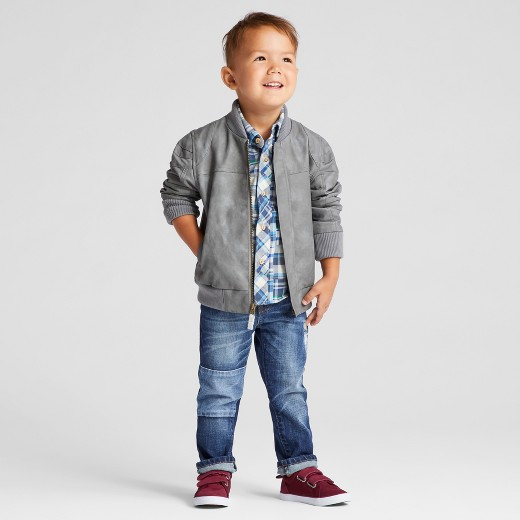 Toddler Boys' Bomber Jacket Genuine Kids® from Oshkosh™ - Grey 2T ...