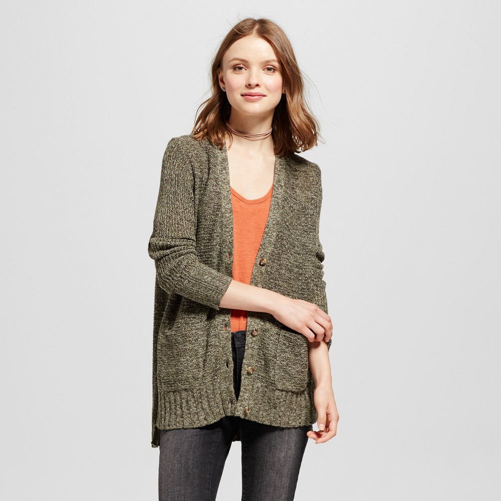 Womens Boyfriend Cardigan - Mossimo Supply Co. Olive (Green) XS