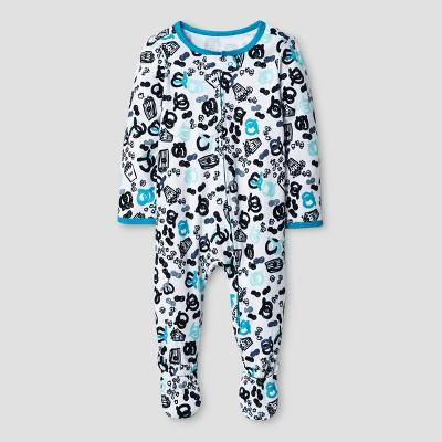 Oh Joy! Baby Boys' Pretzel Print Sleep N Play - Heather Gray 0-3M