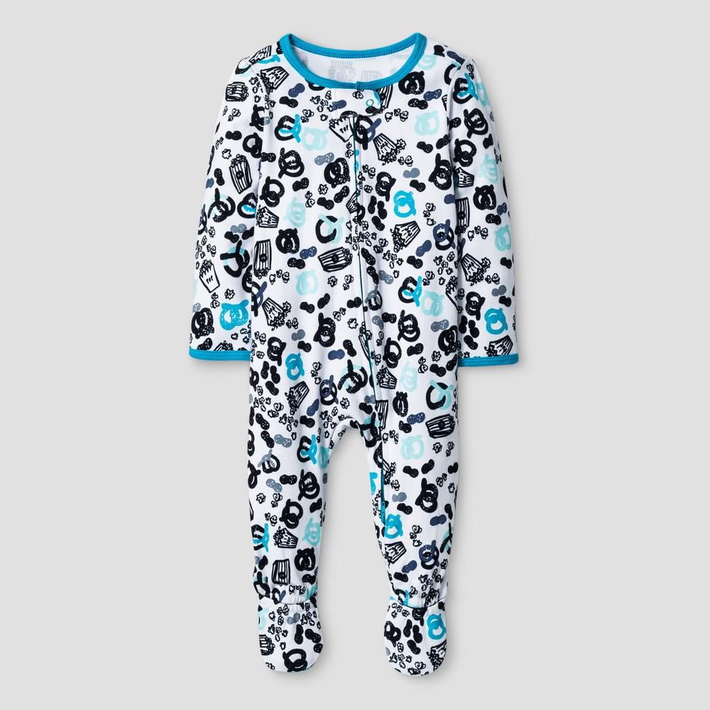 Oh Joy! Baby Boys Pretzel Print Sleep N Play - Heather Gray 0-3M, Size: 0-3 M