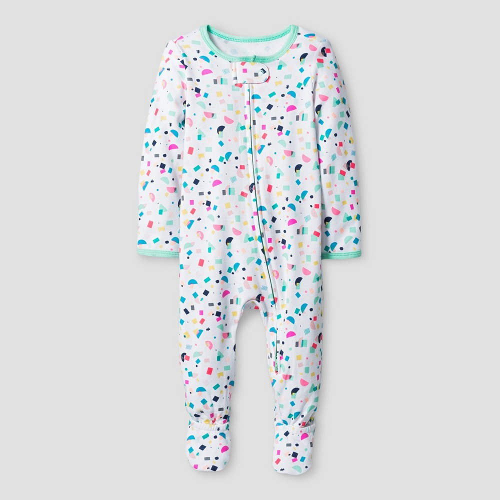 Oh Joy! Baby Girls Confetti Print Sleep N Play - Green 3-6M, Size: 3-6 M