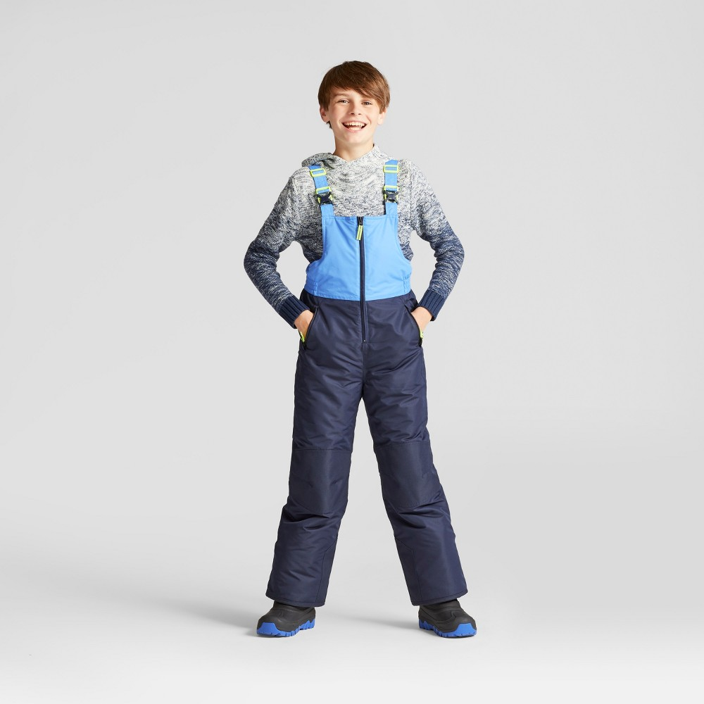 Boys Snow Bibs - C9 Champion Blue, Size: XS