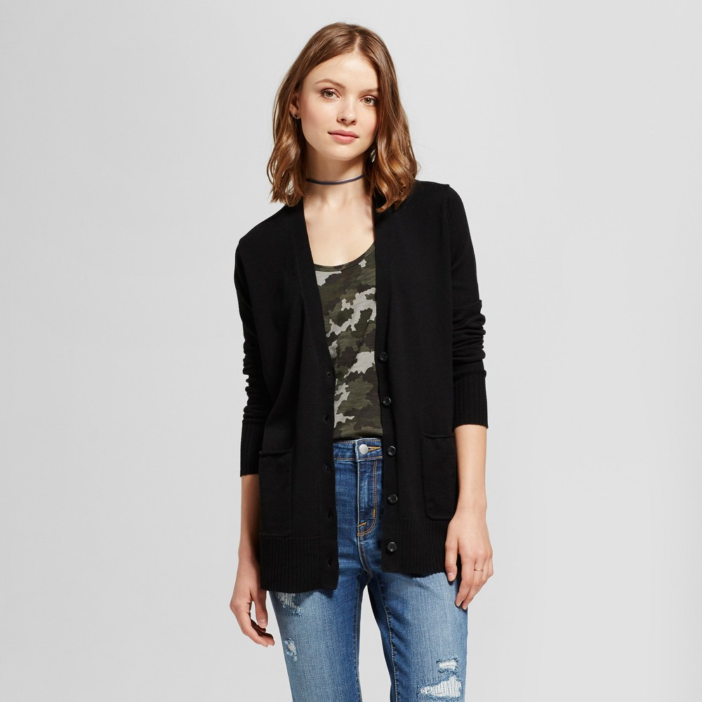 Womens Boyfriend Cardigan - Mossimo Supply Co. Black XS