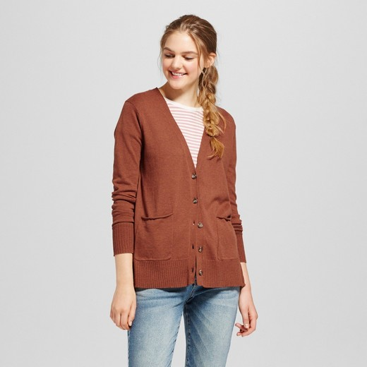 Women's Boyfriend Cardigan - Mossimo Supply Co.™ Orange S : Target