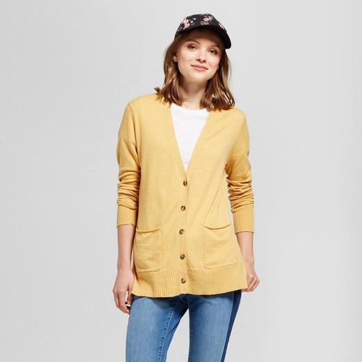 Women's Boyfriend Cardigan - Mossimo Supply Co.™ Yellow S : Target