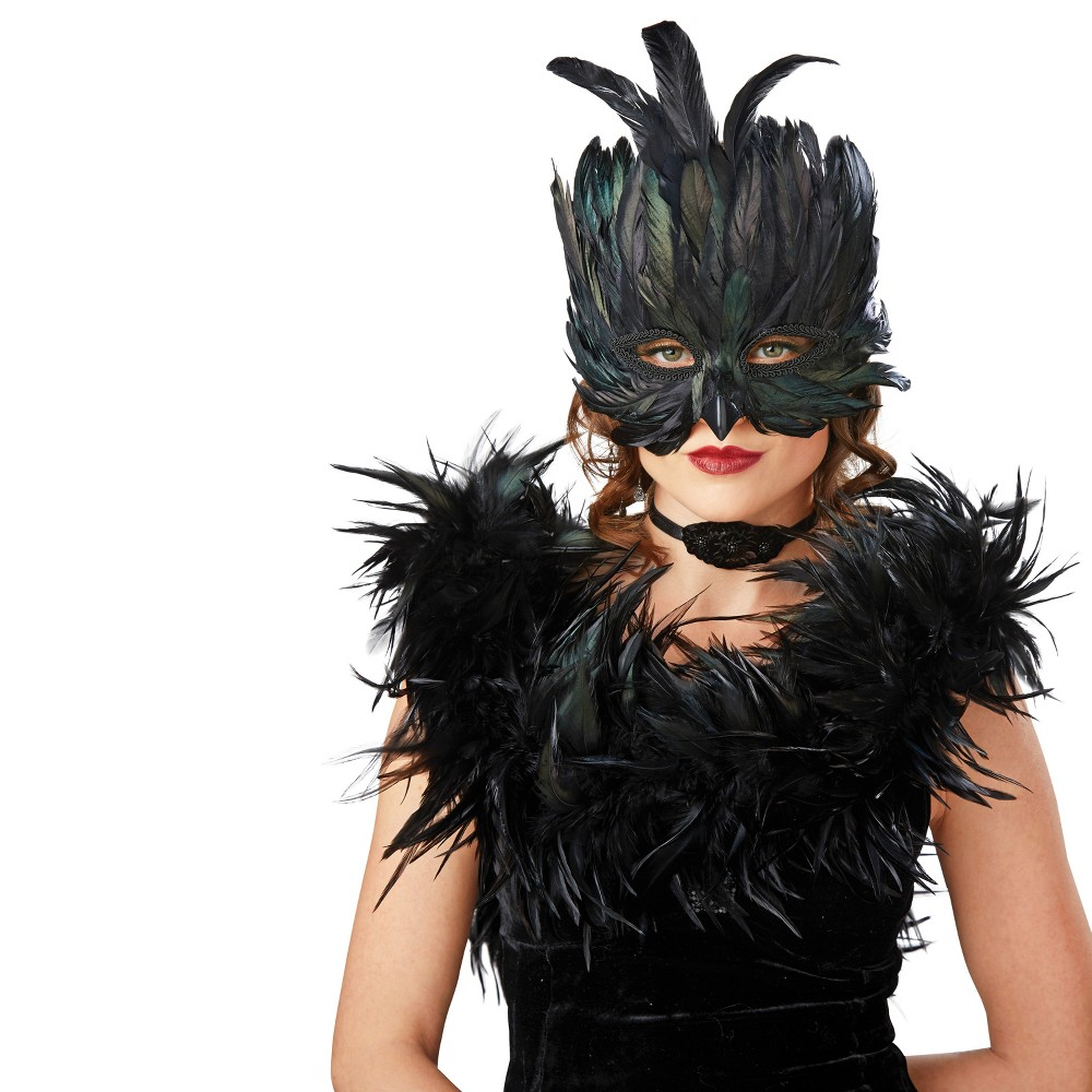 Adult Raven Masquerade Mask - Hyde and Eek! Boutique, Womens, Black
