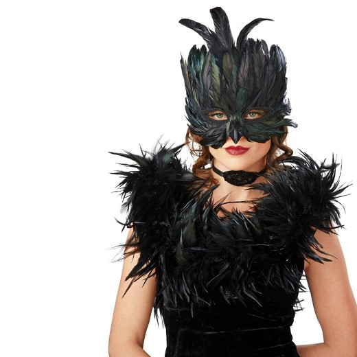 adult raven masquerade mask hyde and eek boutique - Halloween Costumes With A Masquerade Mask