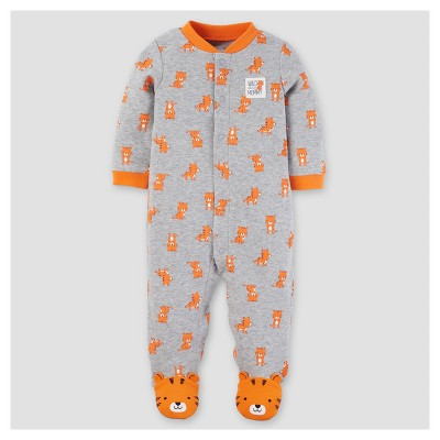 Baby Boys' Cotton Tiger Sleep N' Play - Just One You™ Made by Carter's® Gray 3M