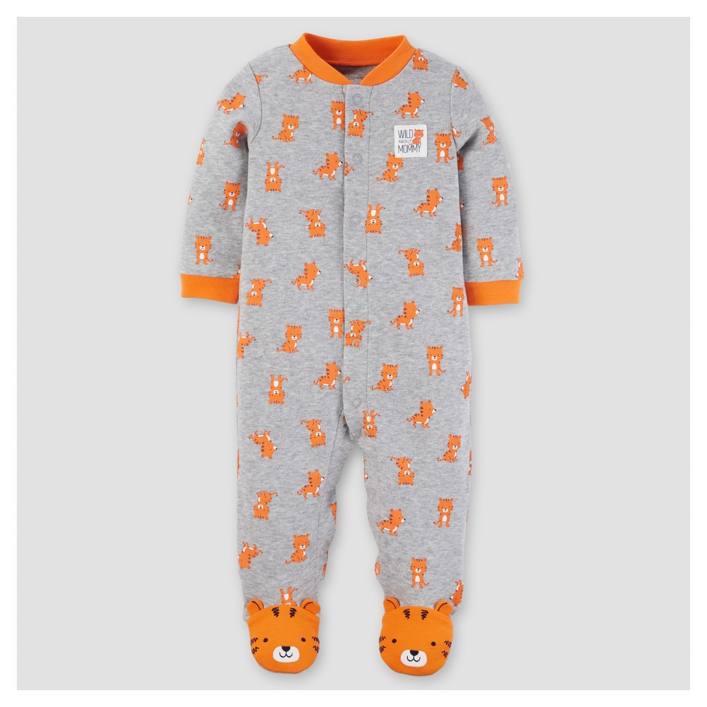 Baby Boys Cotton Tiger Sleep N Play - Just One You Made by Carters Gray 3M, Size: 3 M
