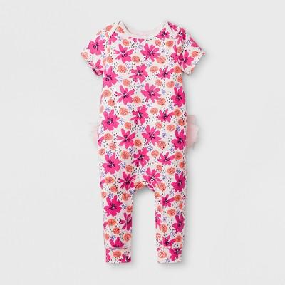 Baby Girls' Tutu Romper - Cat & Jack™ Floral Print 6-9 Months