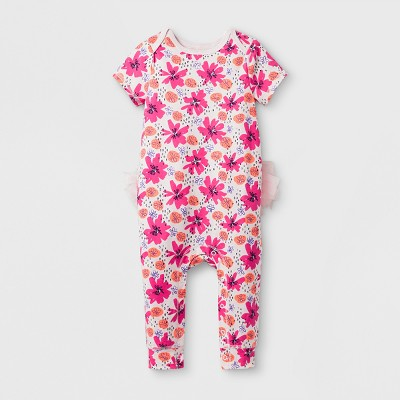 Baby Girls' Tutu Romper - Cat & Jack™ Floral Print NB