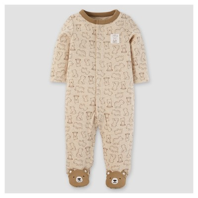 Baby Boys' Cotton/Poly Bears Sleep N' Play - Just One You™ Made by Carter's® Khaki NB