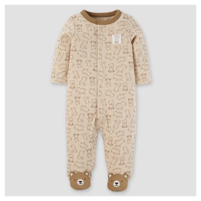 Baby Boys' Cotton/Poly Bears Sleep N' Play - Just One You™ Made by Carter's® Khaki 6M