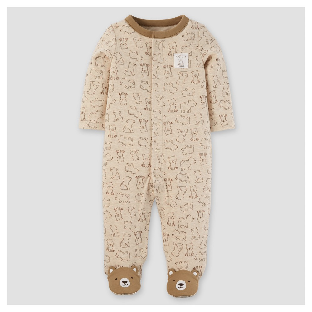 Baby Boys Cotton/Poly Bears Sleep N Play - Just One You Made by Carters Khaki 6M, Size: 6 M, Brown