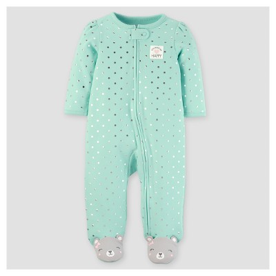 Baby Girls' Happy Foil Dots Sleep N' Play - Just One You™ Made by Carter's® Mint 9M