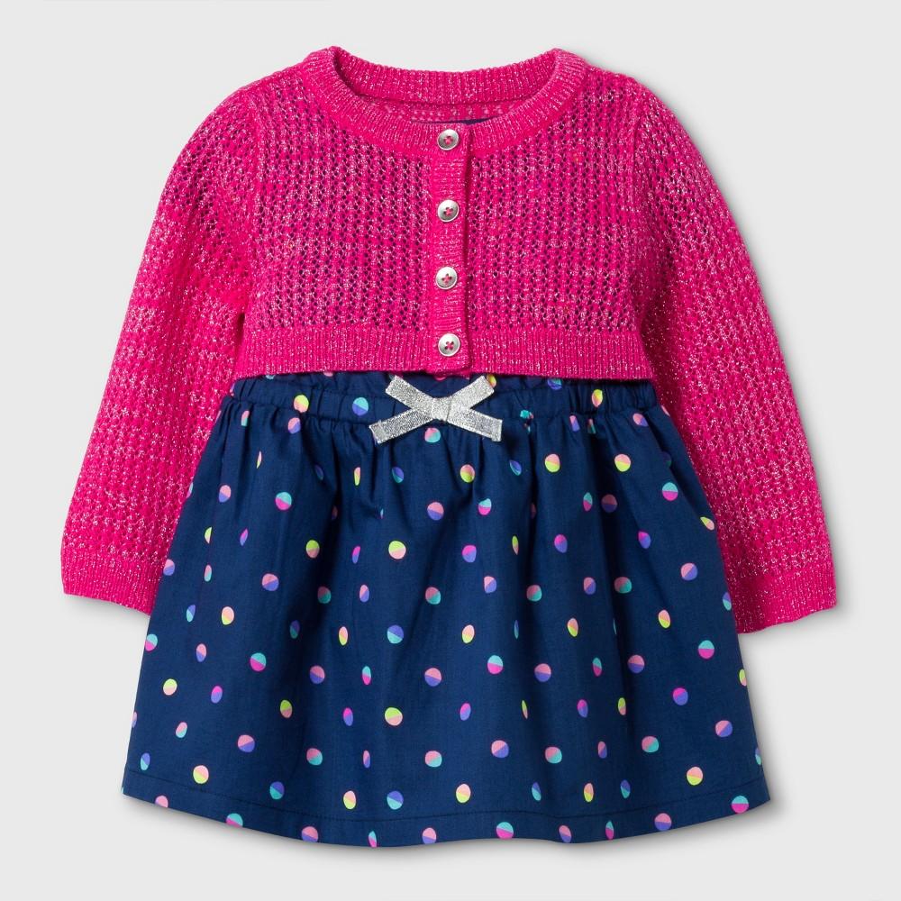 A Line Dresses Nightfall Blue Cat & Jack 6-9 M, Newborn Girls