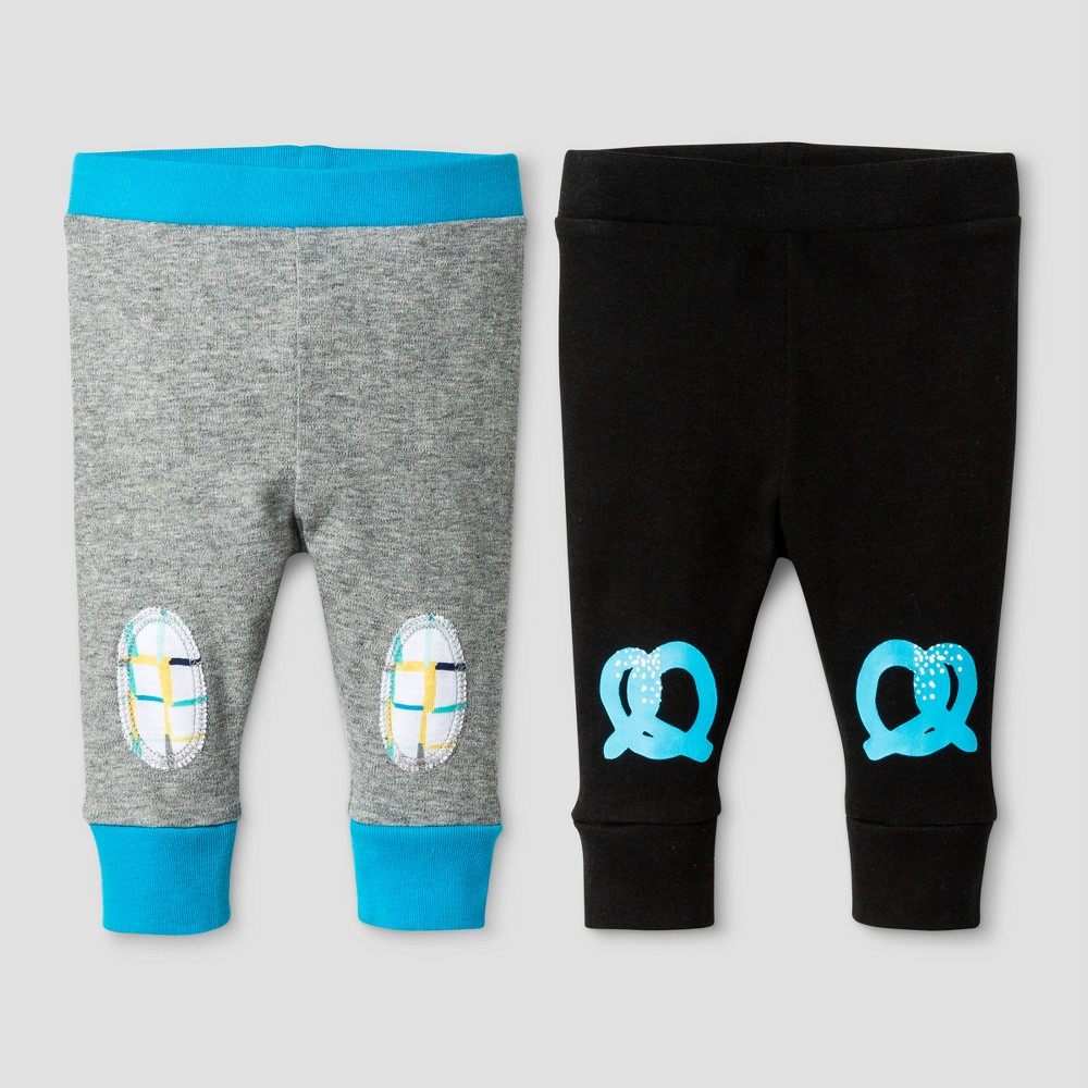 Oh Joy! Baby Boys 2-Pack Pants Set - Black 18M, Size: 18 M