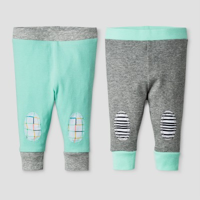 Oh Joy! Baby 2-Pack Pants Set - Heather Gray 0-3M