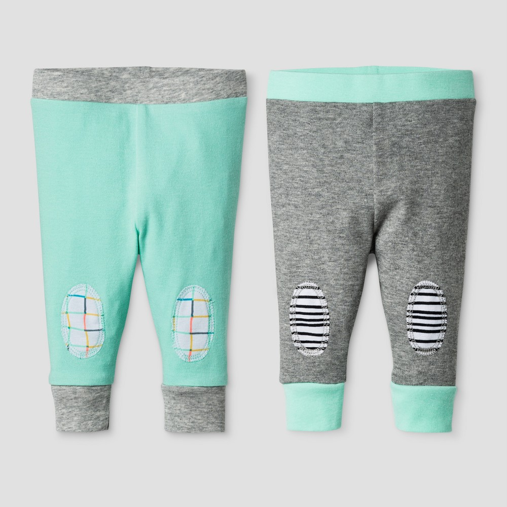 Oh Joy! Baby 2-Pack Pants Set - Heather Gray 0-3M, Infant Unisex, Size: 0-3 M
