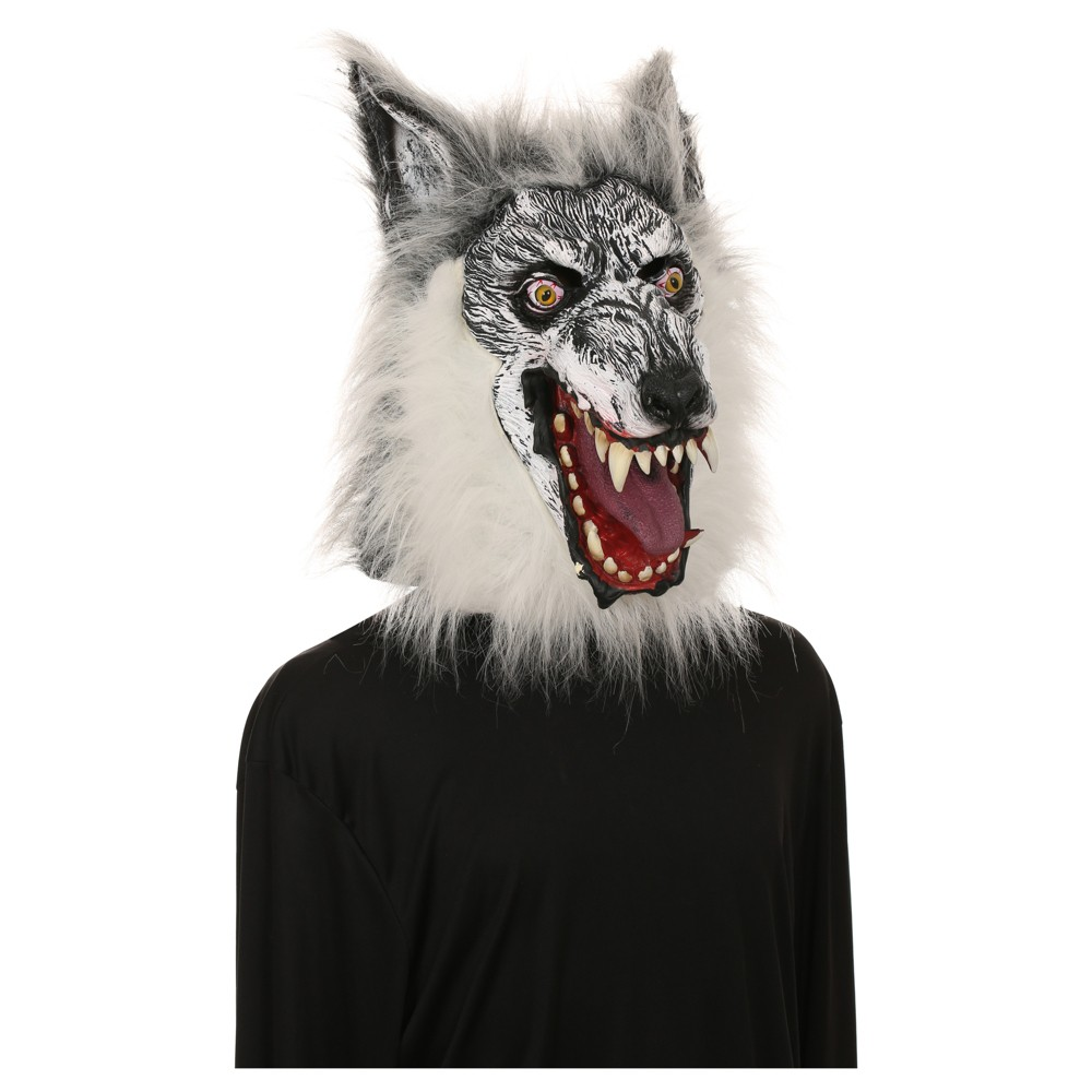 Adult Deluxe Wolf Mask - Hyde and Eek! Boutique, Mens, Gray