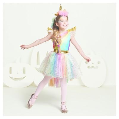 girlsu0027 deluxe rainbow unicorn costume hyde and eek boutique
