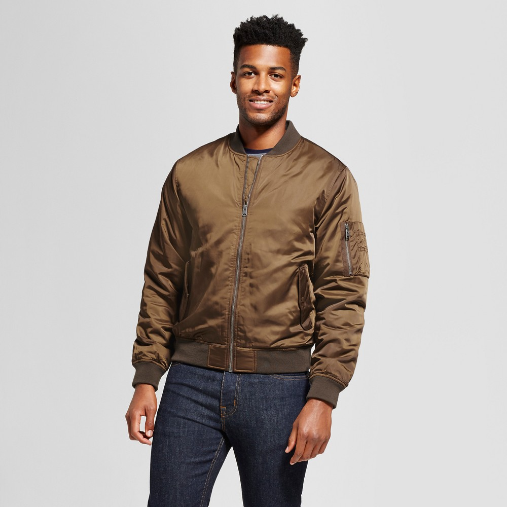 Mens Standard Fit Insulated Bomber Jacket - Goodfellow & Co Olive (Green) Xxl