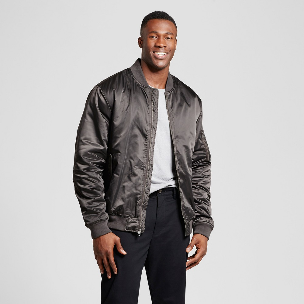 Mens Big & Tall Standard Fit Insulated Bomber Jacket - Goodfellow & Co Gray 4XB