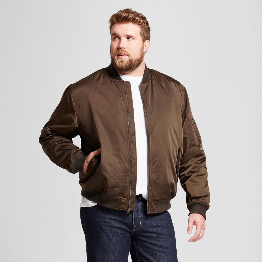 Mens Big & Tall Standard Fit Insulated Bomber Jacket - Goodfellow & Co Olive (Green) 2XBT