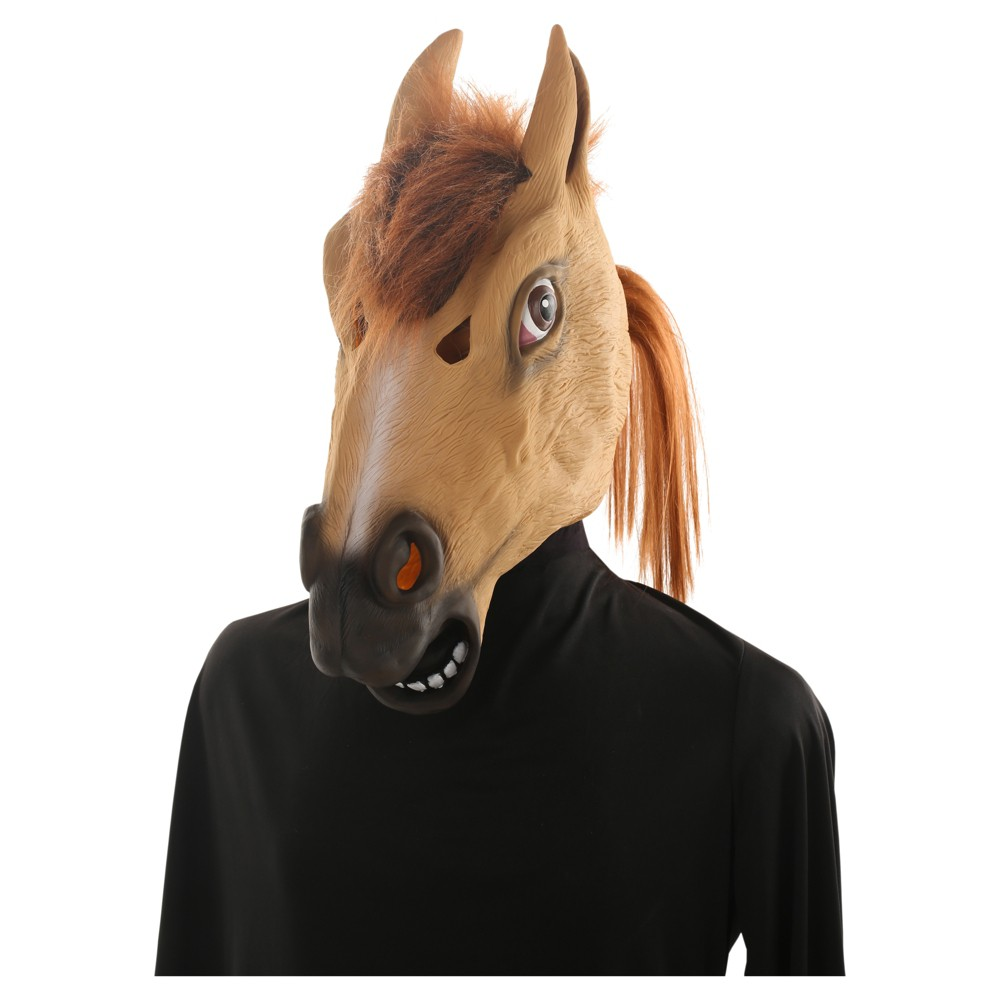 Adult Horse Head Mask - Hyde and Eek! Boutique, Mens, Brown