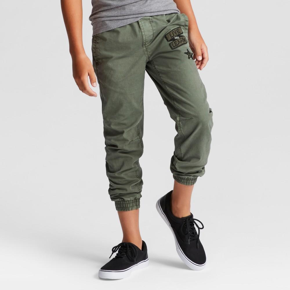 Boys Stretch Jogger Pants - Cat & Jack Olive Metal 5, Green