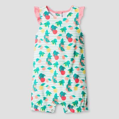 Oh Joy! Baby Girl Fruit Print Romper - Coral 18M