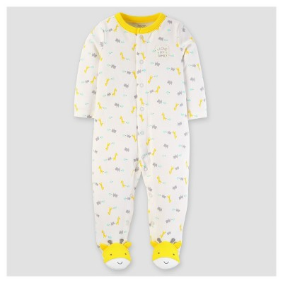 Baby Cotton Giraffe I Love My Family Sleep N' Play - Just One You™ Made by Carter's® Yellow NB