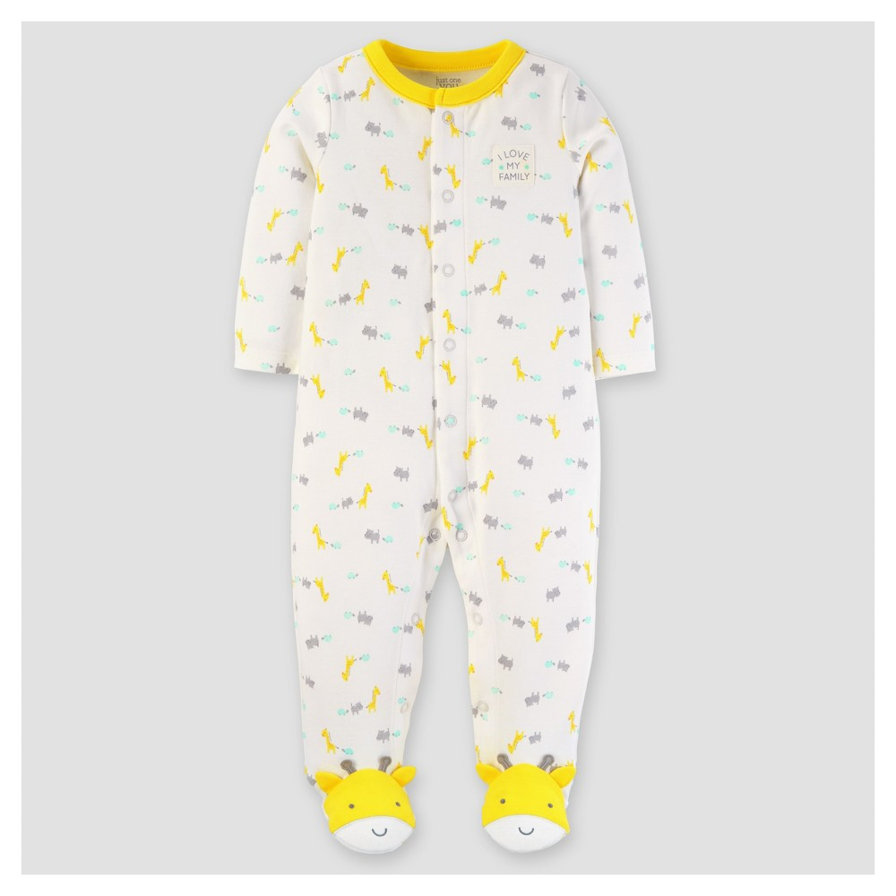 Baby Cotton Giraffe I Love My Family Sleep N Play - Just One You Made by Carters Yellow NB, Infant Unisex