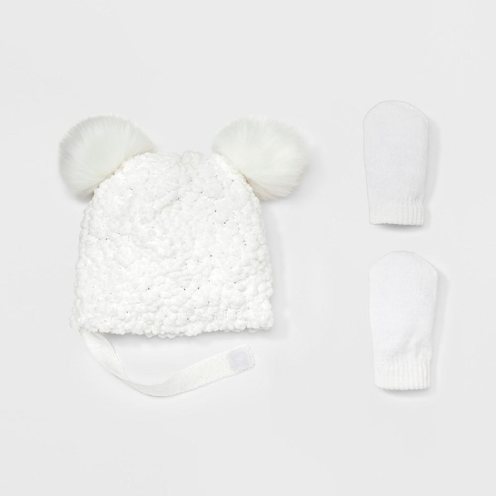 Headwear Sets Cat & Jack Cream, Infant Girls, Size: 12-24M, Beige